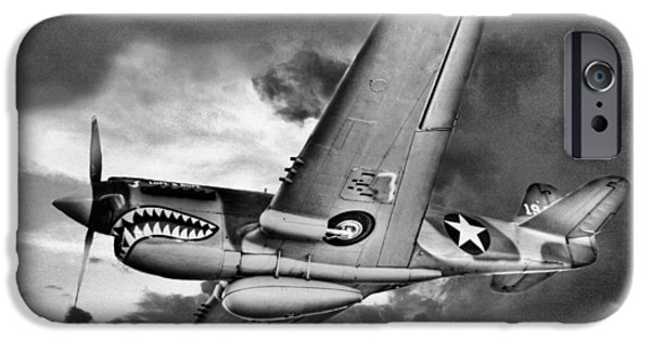 Ww Ii iPhone Cases - Out of the Storm BW iPhone Case by JC Findley