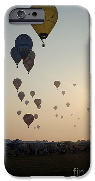 Hot Air Balloon iPhone Cases - Out of the Sun No3 iPhone Case by Paul Anderson