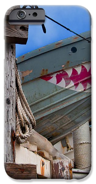 Out of the Water - There's a Shark iPhone Case by Bill Gallagher