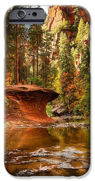 West Fork iPhone Cases - Out on a Ledge  iPhone Case by Saija  Lehtonen