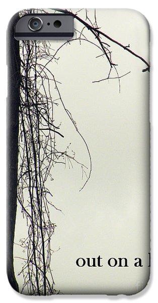 Birds On Limbs iPhone Cases - Out On A Limb iPhone Case by Joe Jake Pratt