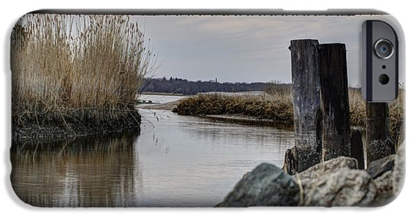 Salt Marsh. New England iPhone Cases - Out To The Bay iPhone Case by Andrew Pacheco