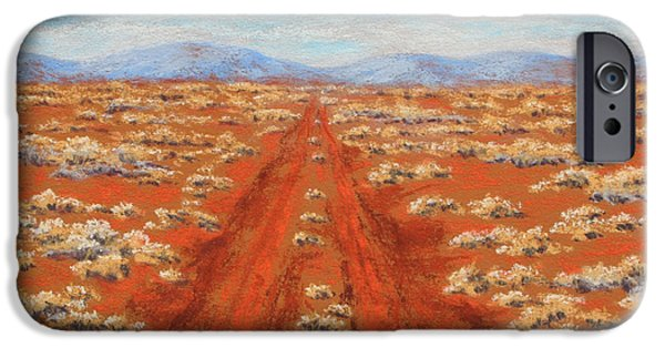Tracks Pastels iPhone Cases - Outback track iPhone Case by David Clode
