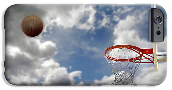 Recently Sold -  - Basket iPhone Cases - Outdoor Basketball Shot iPhone Case by Lane Erickson