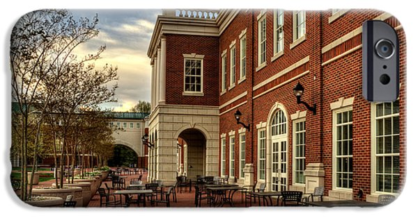 Dining Hall iPhone Cases - Outdoor Dining at the Courtyard Dining Hall of WCU iPhone Case by Greg and Chrystal Mimbs