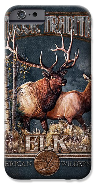 Cynthie Fisher iPhone Cases - Outdoor Traditions Elk iPhone Case by JQ Licensing