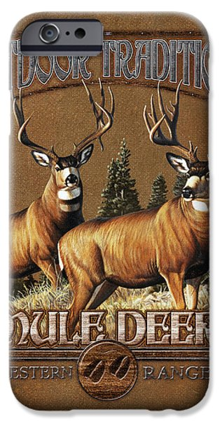 Cynthie Fisher iPhone Cases - Outdoor Traditions Mule deer iPhone Case by JQ Licensing