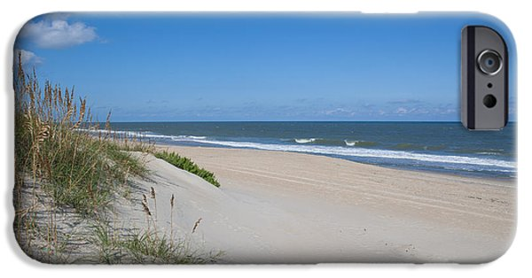 Kaypickens.com iPhone Cases - Outer Banks Beach  iPhone Case by Kay Pickens