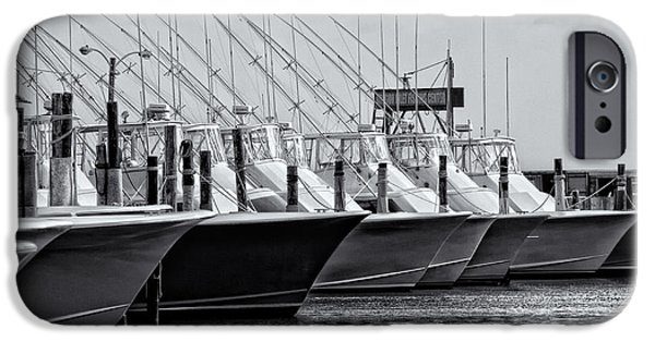 Pamlico Sound iPhone Cases - Outer Banks Fishing Boats iPhone Case by Dan Carmichael