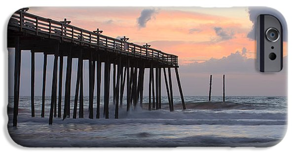 Panoramic Ocean iPhone Cases - Outer Banks Sunrise iPhone Case by Adam Romanowicz