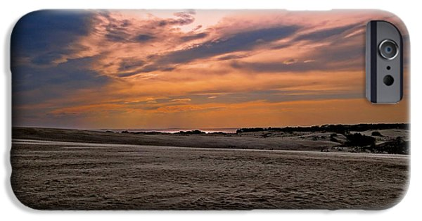 Beach Landscape iPhone Cases - Outer Banks Sunset iPhone Case by Dawn Gari