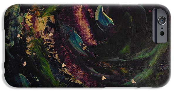 Outer Space Paintings iPhone Cases - Dark Space iPhone Case by Dotti Hannum