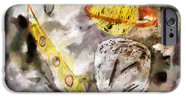 Outer Space Paintings iPhone Cases - Outer Space iPhone Case by Magomed Magomedagaev