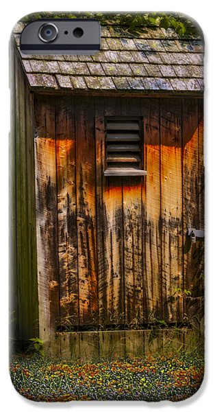 Village iPhone Cases - Outhouse Shack iPhone Case by Susan Candelario