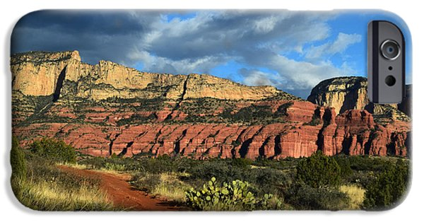 Sedona iPhone Cases - Outlaw Trail in Arizona iPhone Case by Lana Smith