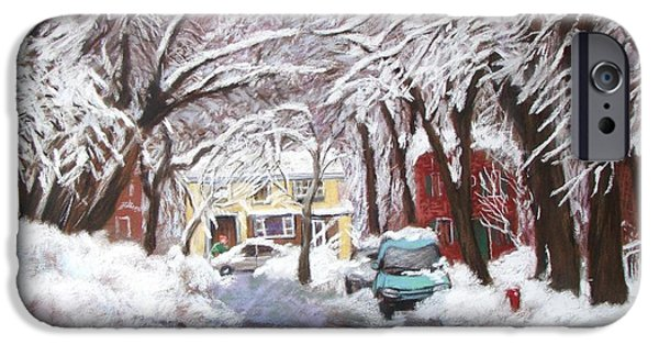 Winter Storm Pastels iPhone Cases - Outremont After a Storm iPhone Case by Rose Wark
