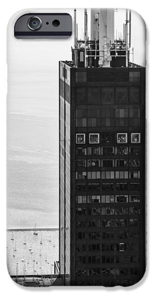 Sears Tower iPhone Cases - Outside Looking In - Willis Tower Chicago iPhone Case by Adam Romanowicz