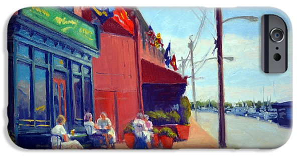Annapolis Maryland iPhone Cases - Outside McGarveys iPhone Case by Armand Cabrera
