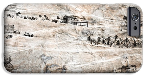 Covered Bridge Mixed Media iPhone Cases - Outside the City iPhone Case by EricaMaxine  Price