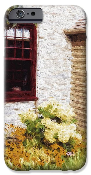 Overhang Digital iPhone Cases - Outside the Window iPhone Case by Jo-Anne Gazo-McKim