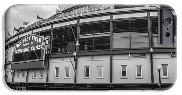 Wrigley Field iPhone Cases - Outside Wrigley iPhone Case by John McGraw