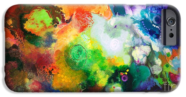 Outer Space Paintings iPhone Cases - Outward Bound iPhone Case by Sally Trace