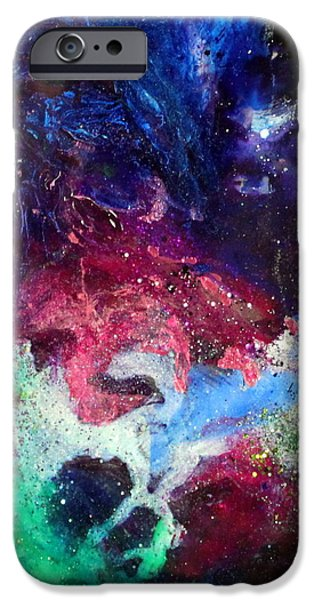 Flashy Paintings iPhone Cases - Ov1001 iPhone Case by Kathleen Fowler