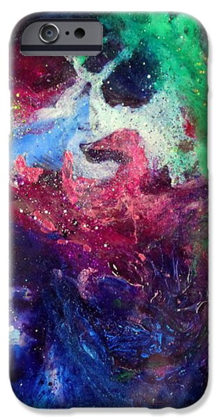 Flashy Paintings iPhone Cases - Olivia Again iPhone Case by Kathleen Fowler