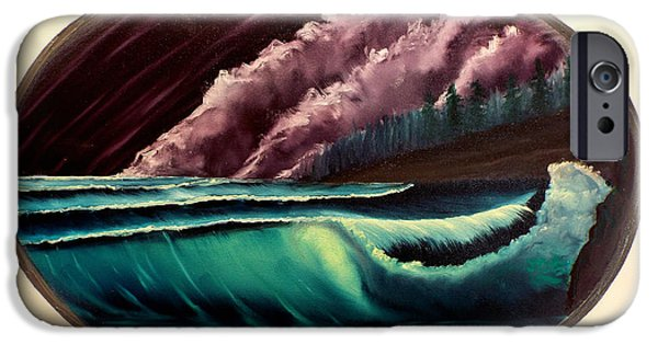 Bob Ross Paintings iPhone Cases - Oval Ocean View iPhone Case by Joyce Krenson
