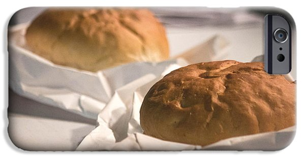 Loaf Of Bread iPhone Cases - Oven Fresh iPhone Case by Howard Tenke