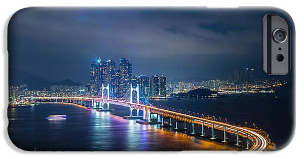 Thoroughfare iPhone Cases - Over looking Busan iPhone Case by Keith Homan