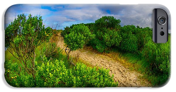 Bay Head Beach iPhone Cases - Over the Beaten Path iPhone Case by Mark Miller