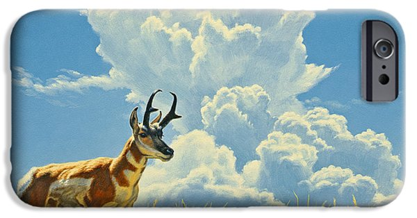 Yellowstone Park iPhone Cases - Over the Rise iPhone Case by Paul Krapf