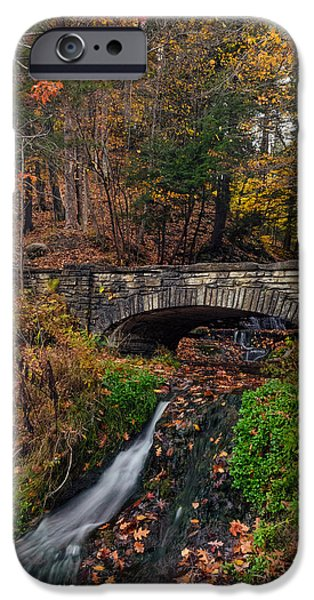 Nature Scene iPhone Cases - Over The Stream iPhone Case by Mark Papke