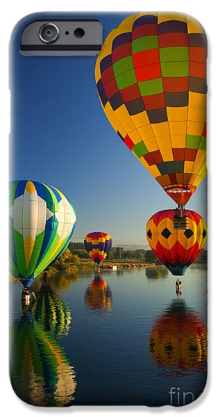 Balloon iPhone Cases - Over the Water iPhone Case by Mike  Dawson