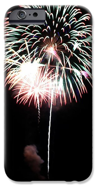4th July Photographs iPhone Cases - 4th of July Fireworks 4 iPhone Case by Howard Tenke