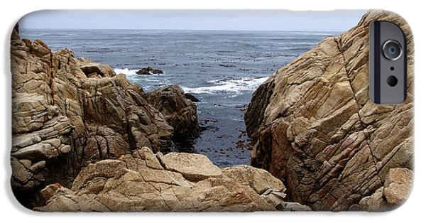 Scenic Drive iPhone Cases - Overcast Day At Pebble Beach iPhone Case by Glenn McCarthy Art and Photography