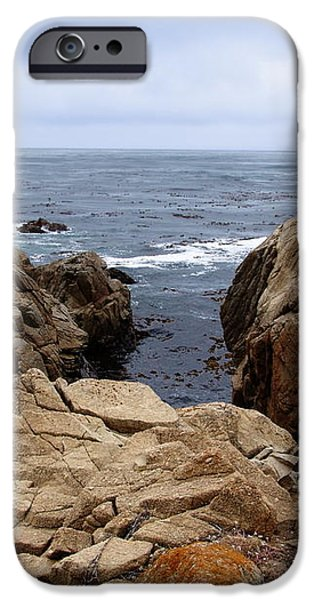 Overcast Day At Pebble Beach iPhone Case by Glenn McCarthy Art and Photography