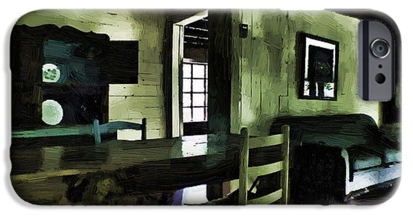 Cabin Corner iPhone Cases - Overdue iPhone Case by Cris Hayes