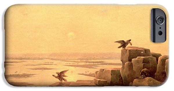 Flooding iPhone Cases - Overflow Of The Nile, 1842 Oil On Canvas iPhone Case by Grigory Tchernezov