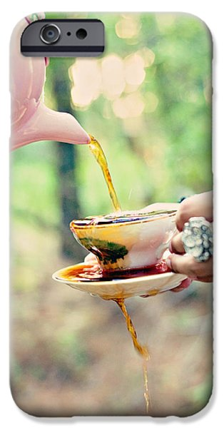 Tea Party iPhone Cases - Overflow iPhone Case by Stephanie Necessary