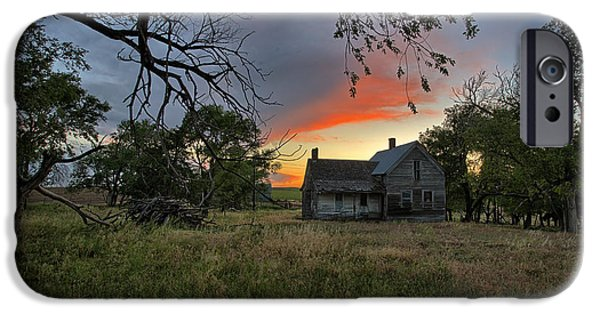 Old Houses iPhone Cases - Overgrown iPhone Case by Thomas Zimmerman