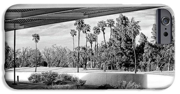 Overhang iPhone Cases - OVERHANG BW Palm Springs iPhone Case by William Dey