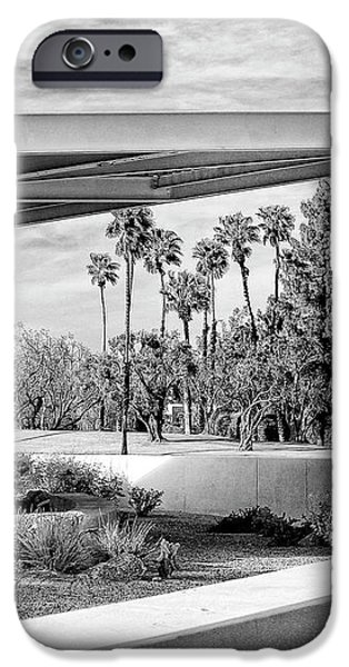 OVERHANG BW Palm Springs iPhone Case by William Dey