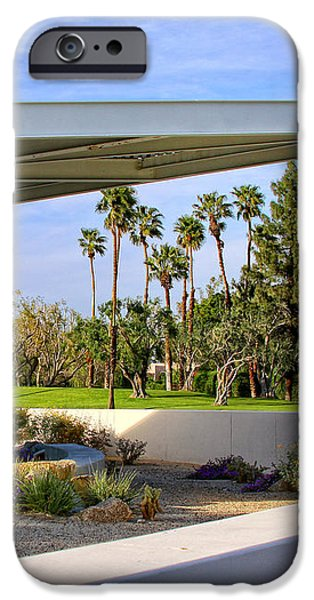 OVERHANG Palm Springs Tram Station iPhone Case by William Dey