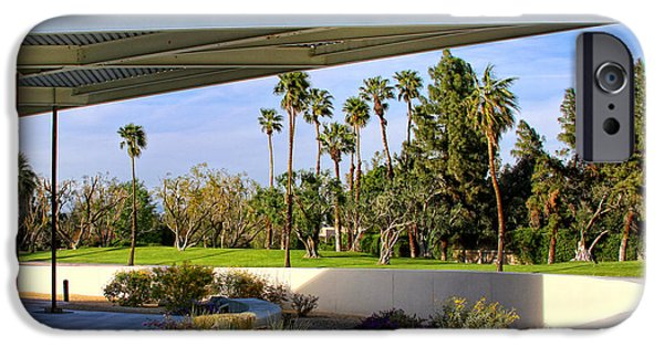 Overhang iPhone Cases - OVERHANG Palm Springs Tram Station iPhone Case by William Dey