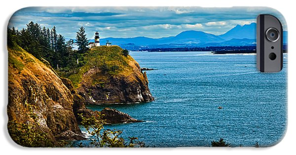 Cape Disappointment iPhone Cases - Overlooking iPhone Case by Robert Bales