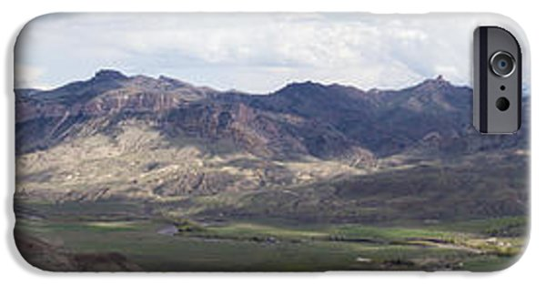 West Fork iPhone Cases - Overlooking the Wapiti Valley  iPhone Case by Janet White