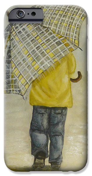 Rainy Day iPhone Cases - Oversized Umbrella iPhone Case by Kelly Mills