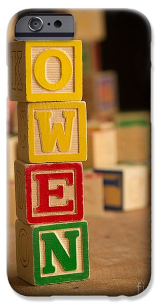 Spell iPhone Cases - OWEN - Alphabet Blocks iPhone Case by Edward Fielding